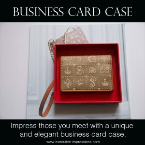 business card case for networking events