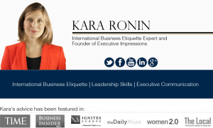 Executive Impressions provides International Business Etiquette Training and Consulting