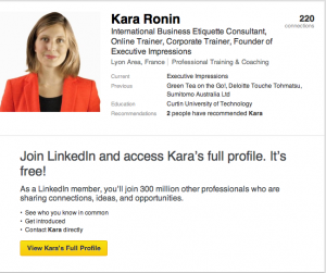 Etiquette tips for Linkedin