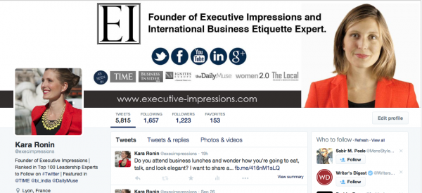 Executive Impressions Twitter Etiquette Tips