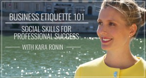 Business Etiquette 101 Video Course